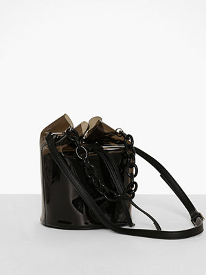 Topshop svart axelväska TPU Bucket Bag