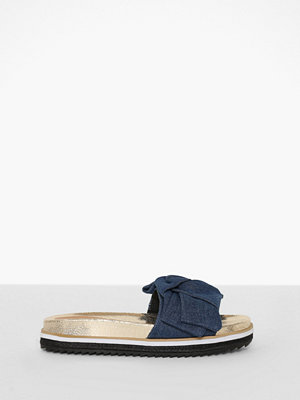 River Island Denim Bow Sandals