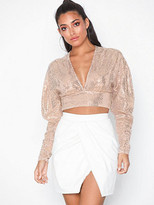 NLY One Sequin Crop Top