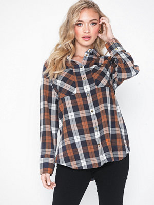 Topshop Check Oversized Shirt