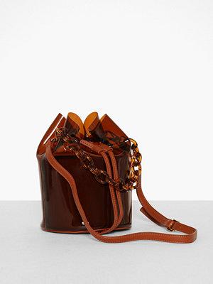 Topshop omönstrad axelväska TPU Bucket Bag
