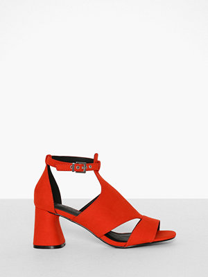 Topshop Cut Out Shoe Boots Red