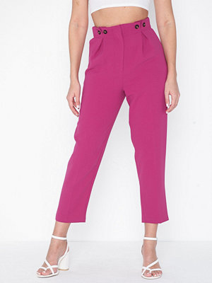 Topshop rosa byxor Button Peg Trousers