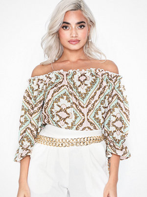 Toppar - NLY Trend Off Shoulder Print Top