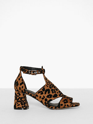 Topshop Cut Out Shoe Boots Leopard