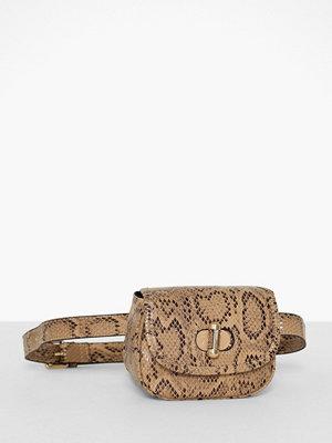 Topshop beige mönstrad axelväska Delilah Belt Bag