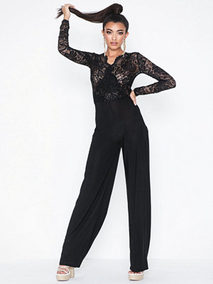 Missguided Lace Long Sleeve Jumpsuit