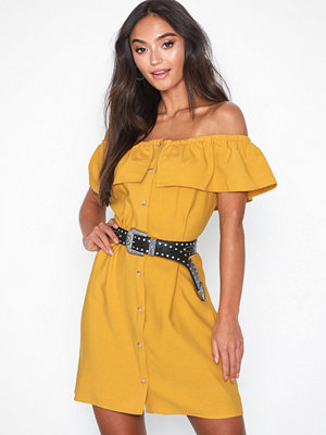 Glamorous Offshoulder Button Dress