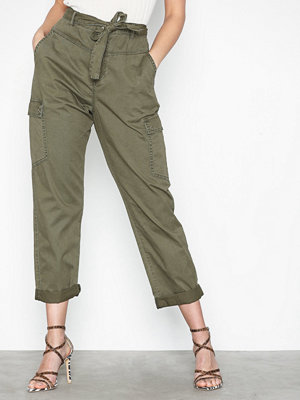Noisy May omönstrade byxor Nmmimi Nw Crispy Belt Cargo Pants 3