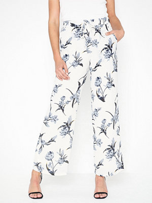 Pieces vita byxor med tryck Pcbridget Mw Pants