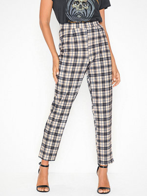 NLY Trend mönstrade byxor Slit Check Pants