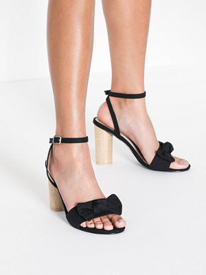 NLY Shoes Canvas Bow Heel Sandal