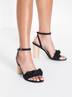Pumps & klackskor - NLY Shoes Canvas Bow Heel Sandal