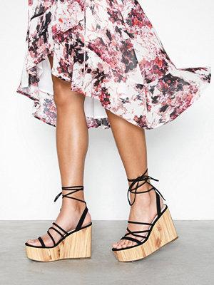 Pumps & klackskor - NLY Shoes Lace Up Wedge Heel