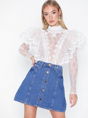 Kjolar - River Island Button Through Denim
