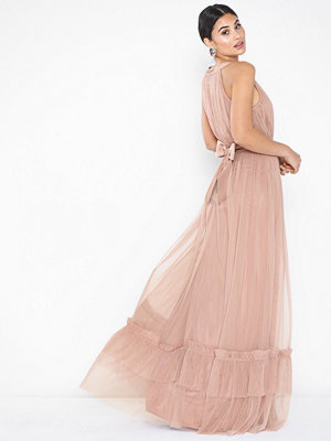 Anaya Halterneck Tulle Maxi Dress