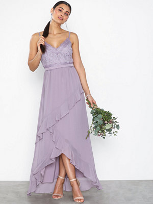 Little Mistress Maxi Lace Chiffon Dress