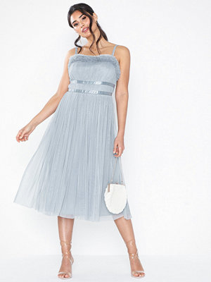 Anaya Ruffle Edge Midi Dress
