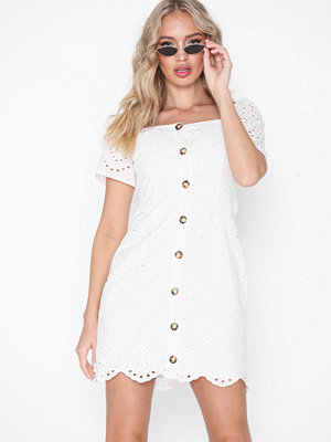 Missguided Square Neck Brodierie Dress