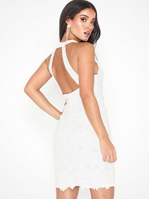Missguided Halter Neck Lace Mini Dress