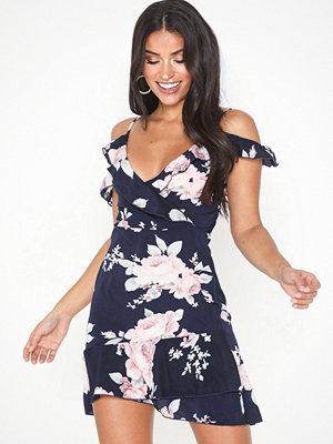 Parisian Floral Cold Shoulder Mini Dress