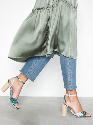Pumps & klackskor - NLY Shoes Canvas Twist Heel Sandal