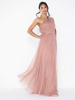 Anaya One Shoulder Gathered Tulle Maxi Dress