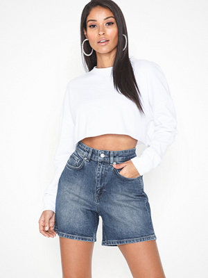 Selected Femme Slfea Hw Dark Blue Denim Shorts W