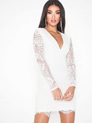 Rare London Long Sleeve Eyelash Lace Dress