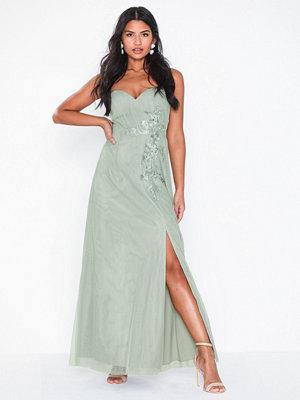 Little Mistress Maxi Mesh Embellishment Dress