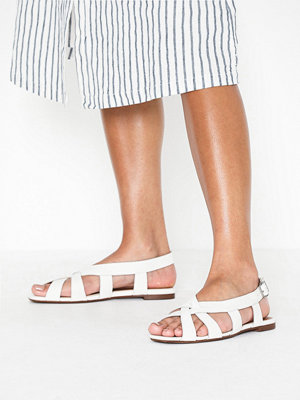 Topshop OPAL White Cross Front Sling Sandals