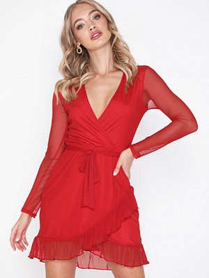 NLY Trend Mesh Wrap Dress