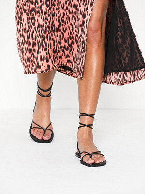 Topshop FOREST Black Wrap Sandals