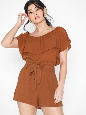 NLY Trend Tie Waist Linen Shorts