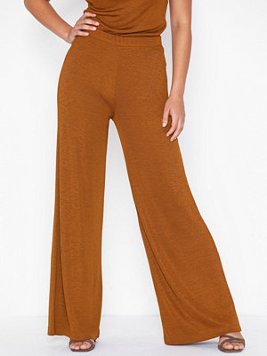 NLY Trend bruna byxor Desert Palazzo Pants