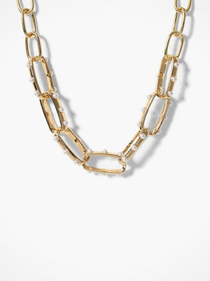 Freedom by Topshop halsband Pearl Inlay Chain