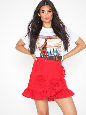 Missguided Broderie Double Frill Mini Skirt