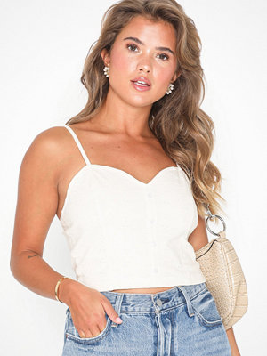NLY Trend Embroidered Button Top