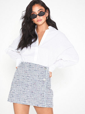 Topshop Silver Button Boucle Skirt