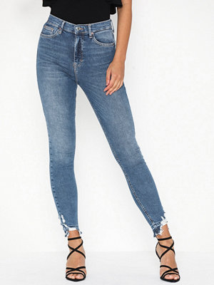 Topshop Mid Blue Ripped Jamie