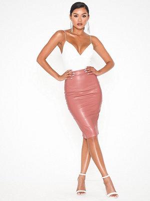 Kjolar - NLY One Leatherlook Midi Skirt