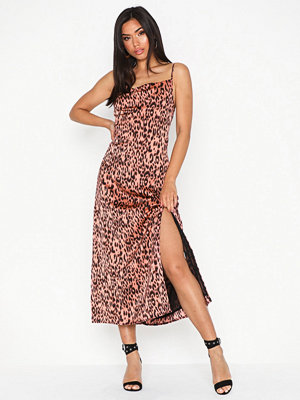 Glamorous Flounce Satin Dress