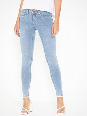 Gina Tricot Skinny low waist superstretch jeans Ljus Blå