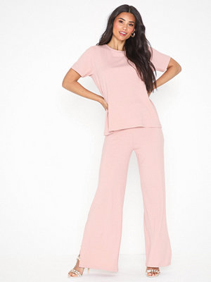 Jumpsuits & playsuits - NLY Trend Rib Slit Tee Set