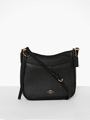 Coach svart axelväska Polished Pebble Leather Chaise Crossbody