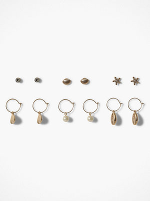 Missguided Jewelry örhängen Shell Multipack Earring