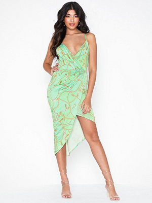 NLY One Wrap Ruched Print Dress