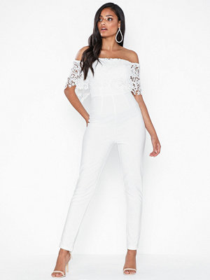 Jumpsuits & playsuits - Rare London Crochet Offshoulder Jumpsuit