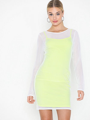 Missguided Neon Slip Dress