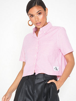 Calvin Klein Jeans Cropped Ss Oxford Shirt